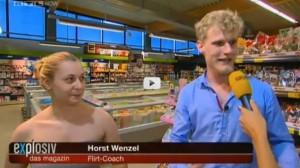 Flirten im Supermarkt