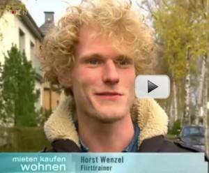 Flirttrainer Horst Wenzel im TV