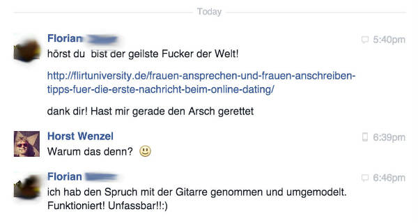 Facebook nachricht flirten [PUNIQRANDLINE-(au-dating-names.txt) 70