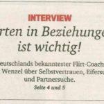 Die Erklärung für Frühlingsgefühle – Interview in der Neue Westfälische Zeitung mit Horst Wenzel