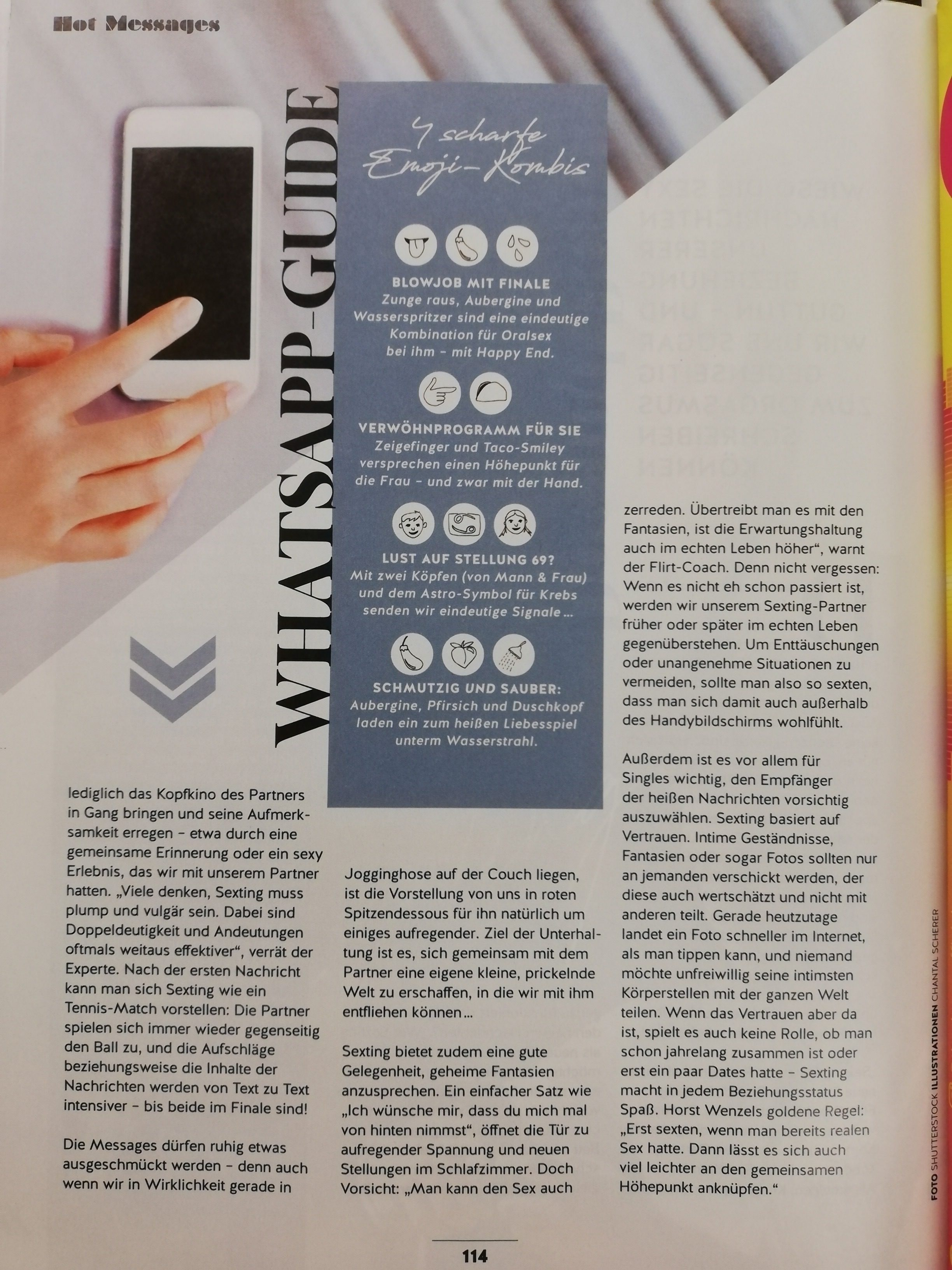 Sexting im Shape Magazin