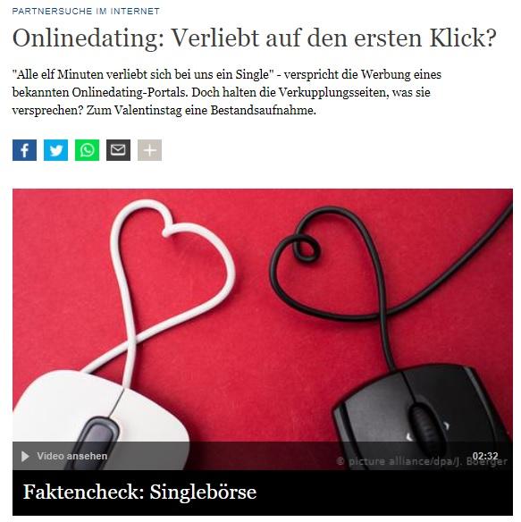 Deutsche Welle verliebt auf den ersten Klick