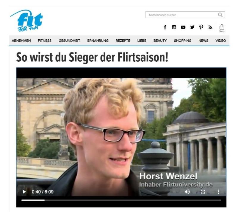 Flirt tipps Horst Wenzel Fit for Fun