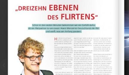"""Stuttgarter Zeitung über neues Flirt Modell: """"Die dreizehn Ebenen des Flirtens"""""""