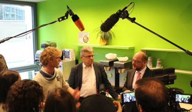 Kanzlerkandidat Martin Schulz besuchte uns bei der Flirt University