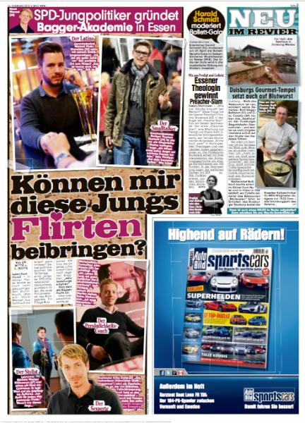 """Die """"Jungs"""" der Flirtuniversity in der Bild Zeitung"""