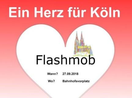 Aufruf zum Flashmob – Ein Herz für Köln