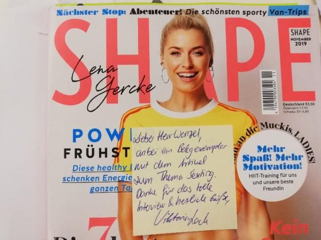 """Horst Wenzel zu """"Sexting"""" im SHAPE Magazin"""